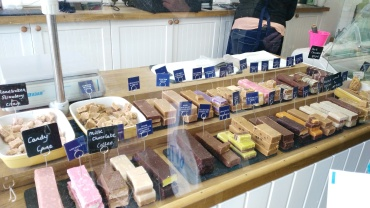 Inside Mrs Tishell's pharmacy... it's a fudge shop
